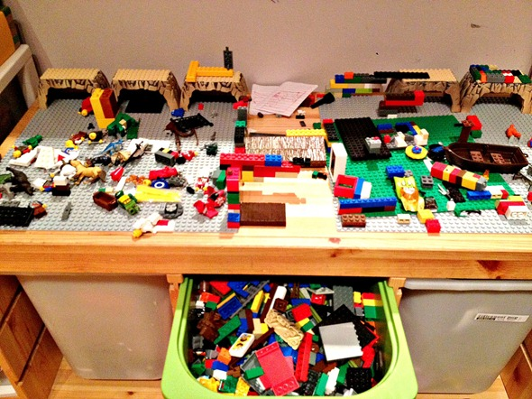 Lego Table with Reading Area