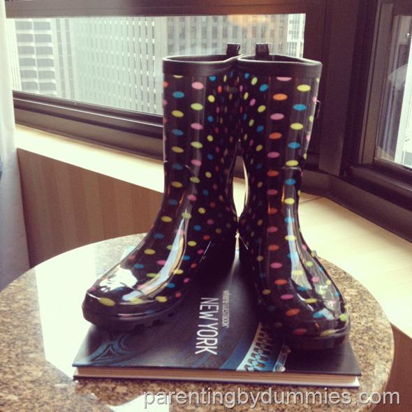 polkadot rain boots