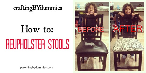 how to reupholster stools