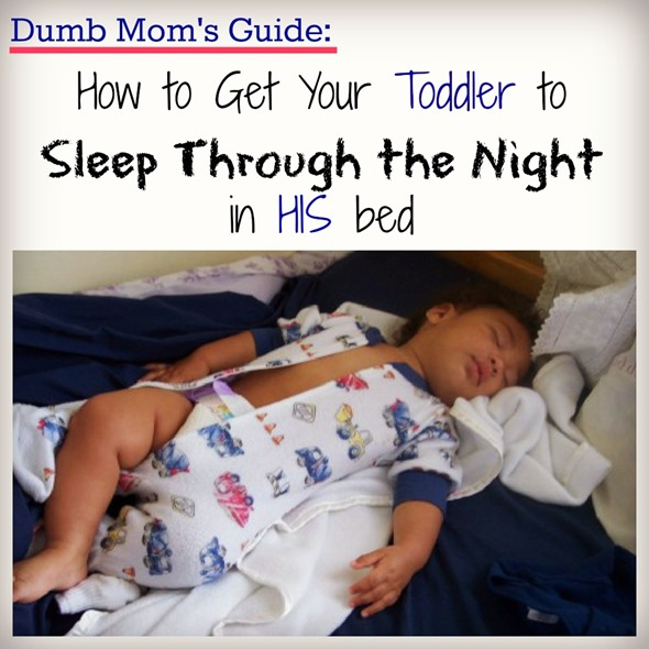 get toddler sleep in own bed