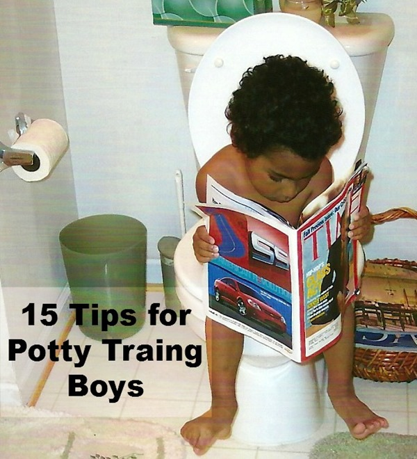 potty training boy tips