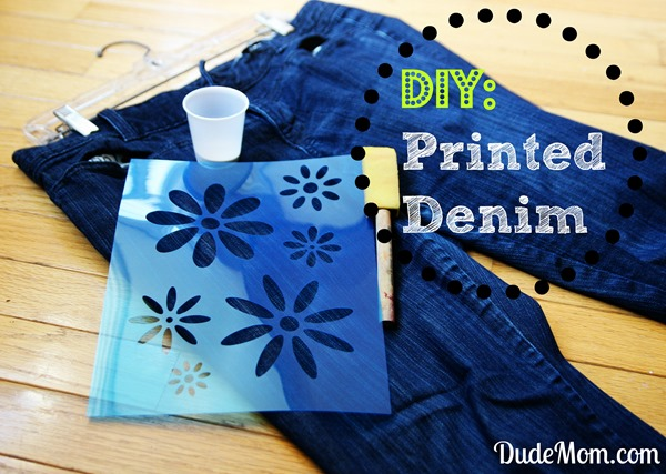 printed jeans tutorial