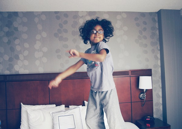 jumpin on bed