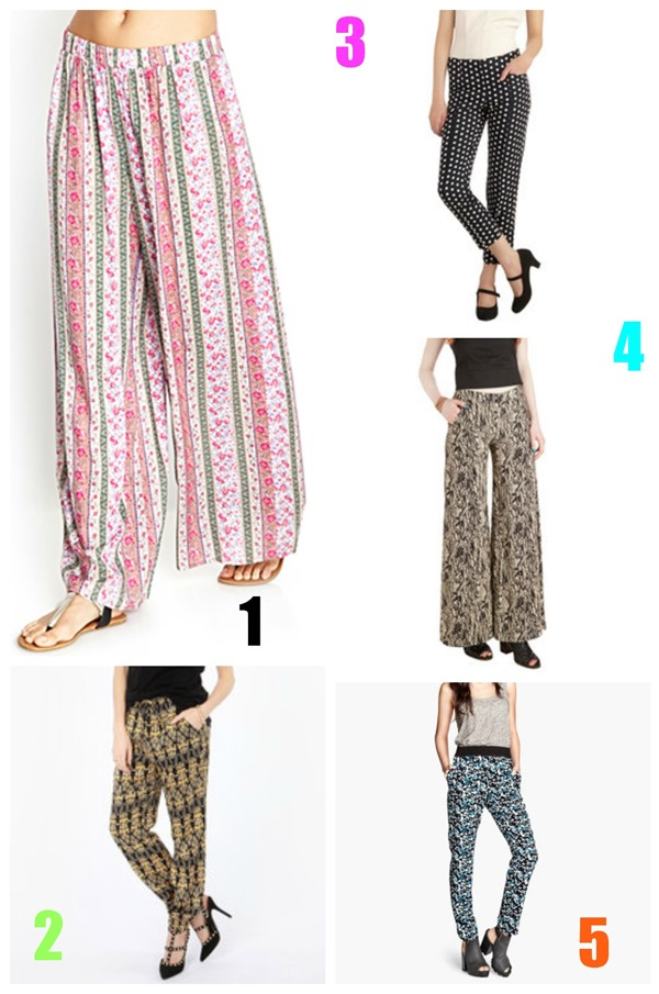 printed pants summer