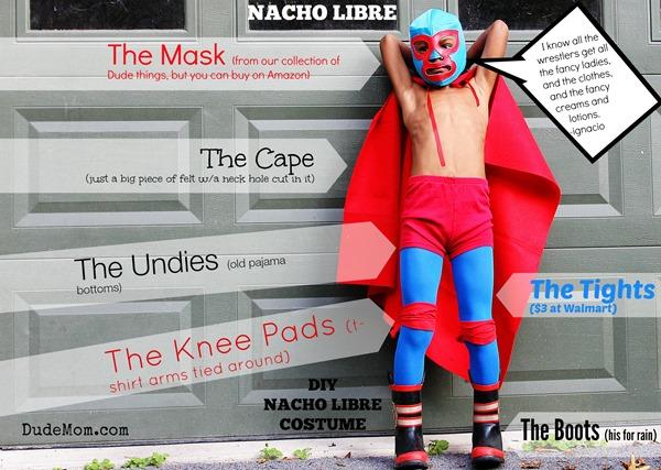diy kids nacho libre costume