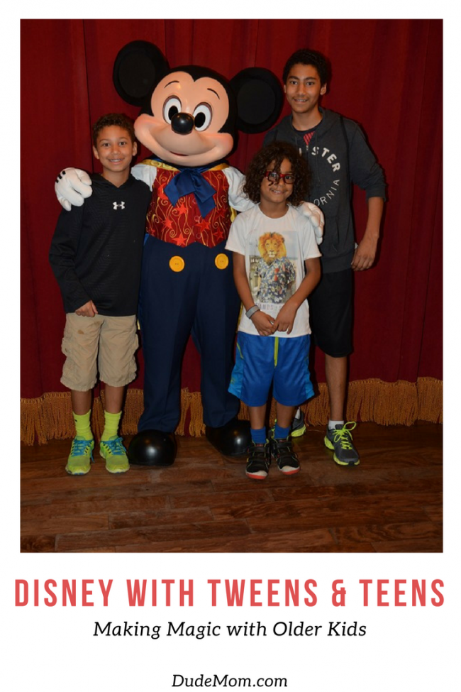 Disney Vacation Planing with Tweens and Teens