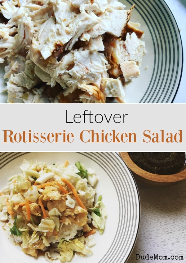 Family meal leftover rotisserie chicken recipe dude mom for Costco rotisserie chicken ingredients