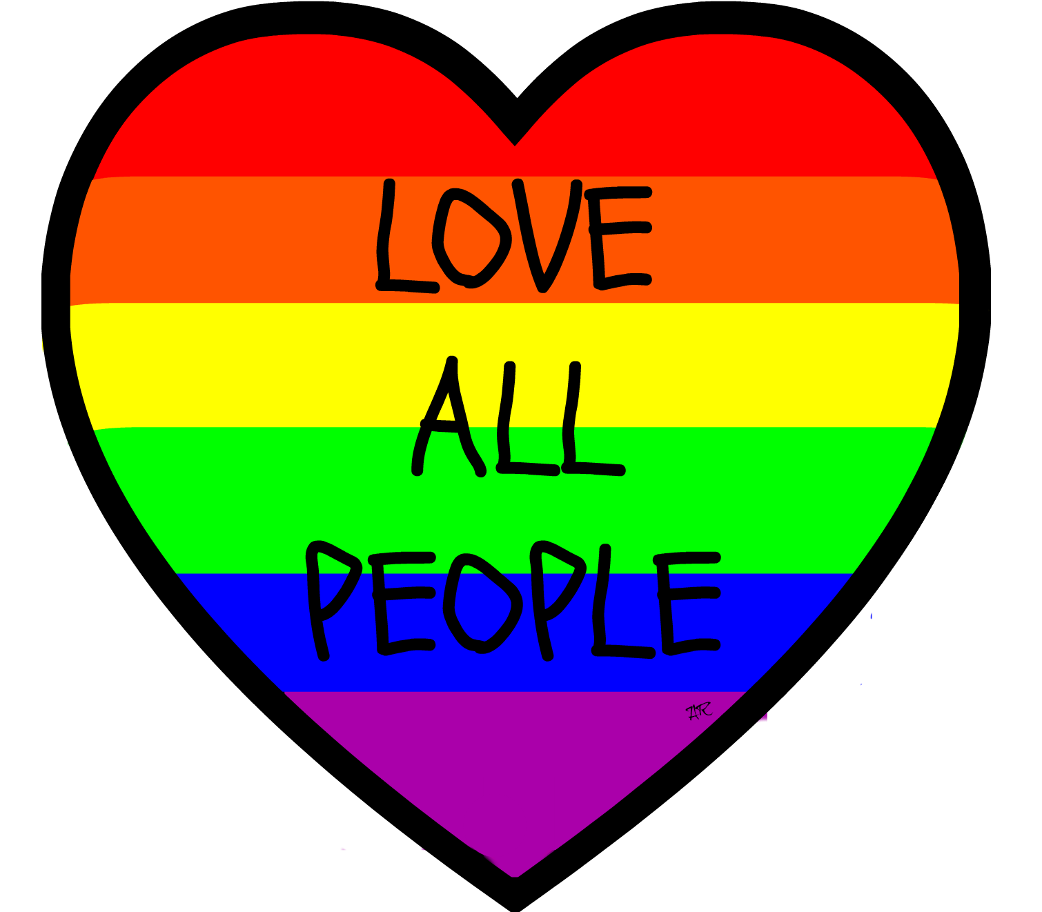 LOVE ALL PEOPLE PRINT