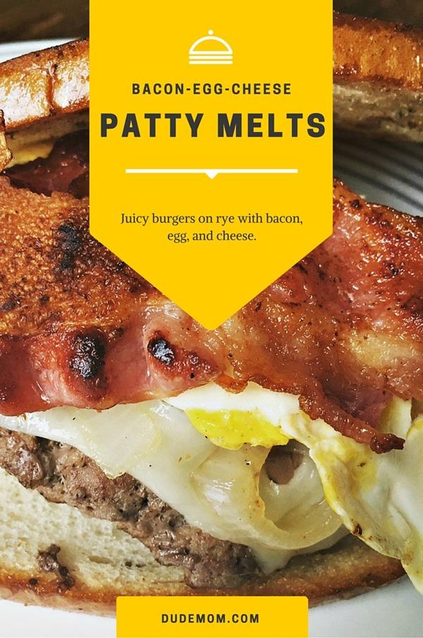 Bacon-egg-cheese patty melt