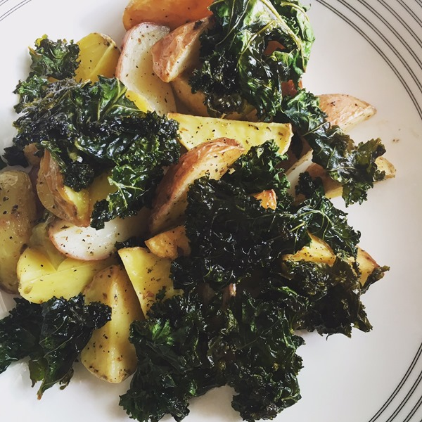 kale and potatoes