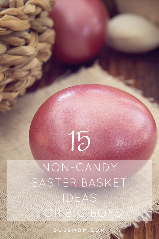 Non-Candy Easter basket ideas for boys
