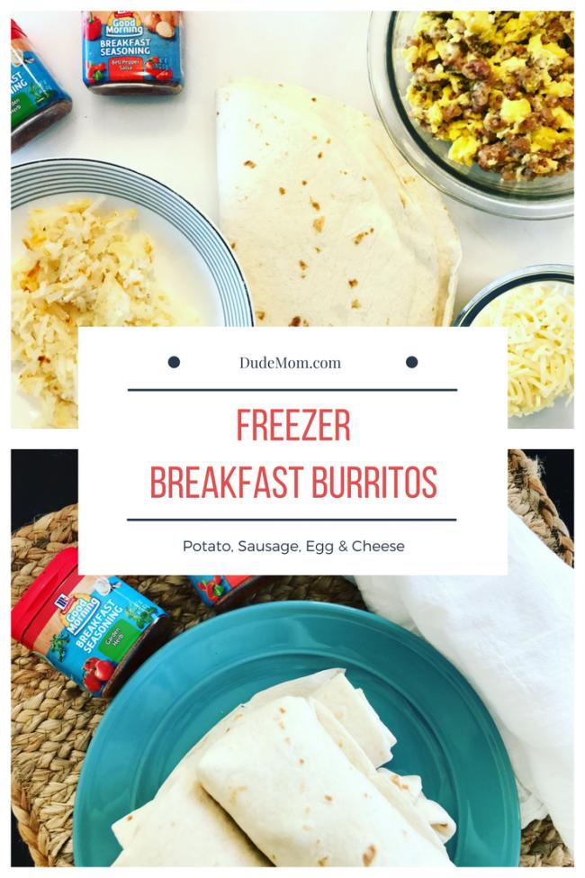 Sausage, Egg & Potato Breakfast Burritos