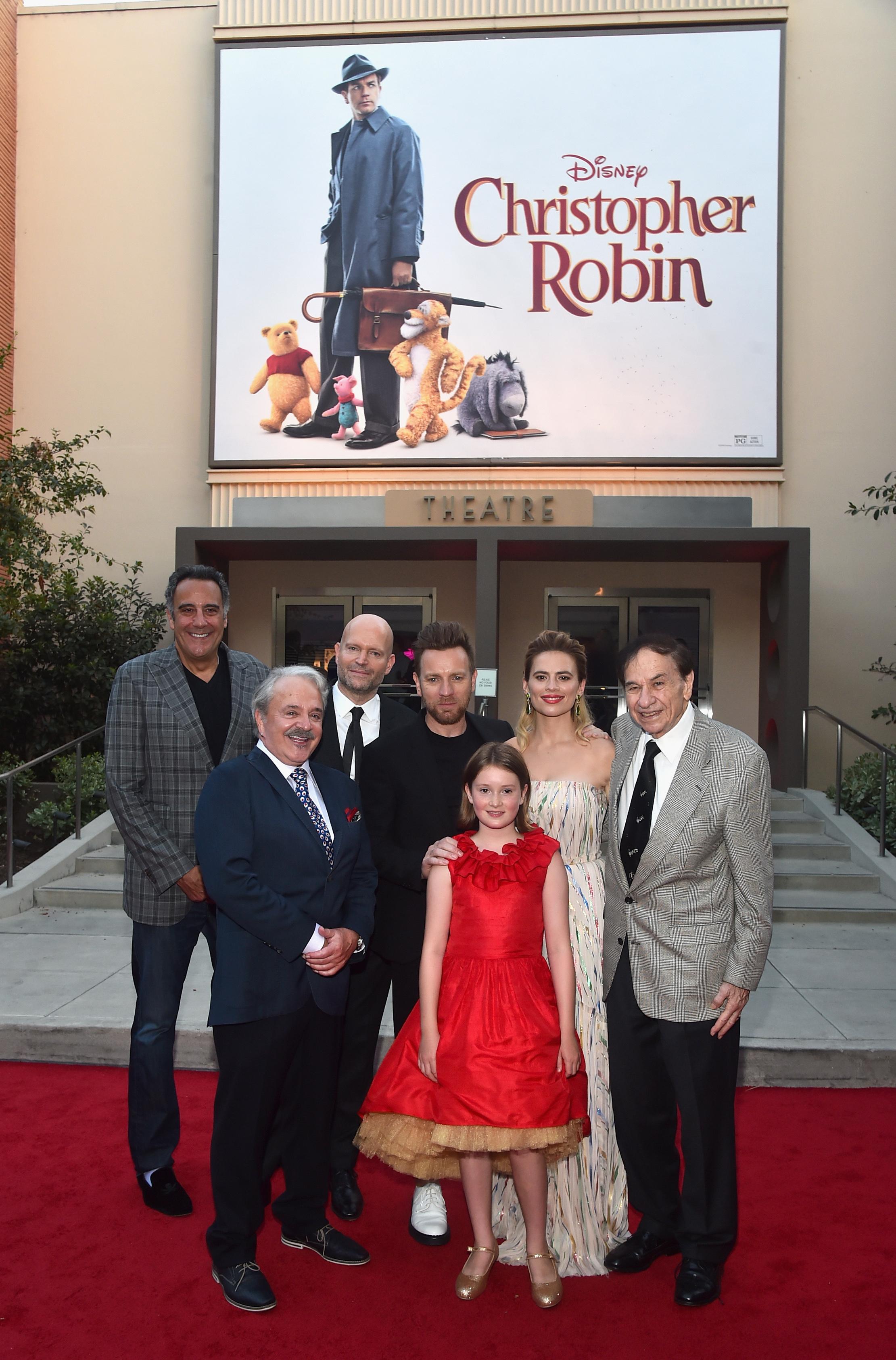Christopher Robin Movie Premier Ewan McGregor Hayley Atwell Bronte Carmichael