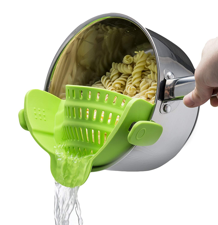 kitchen gadget: snap on strainer