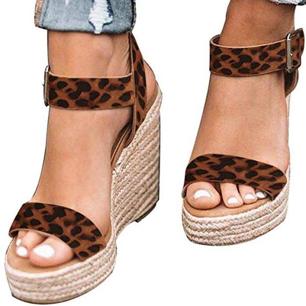 Leopard Print Summer Sandals