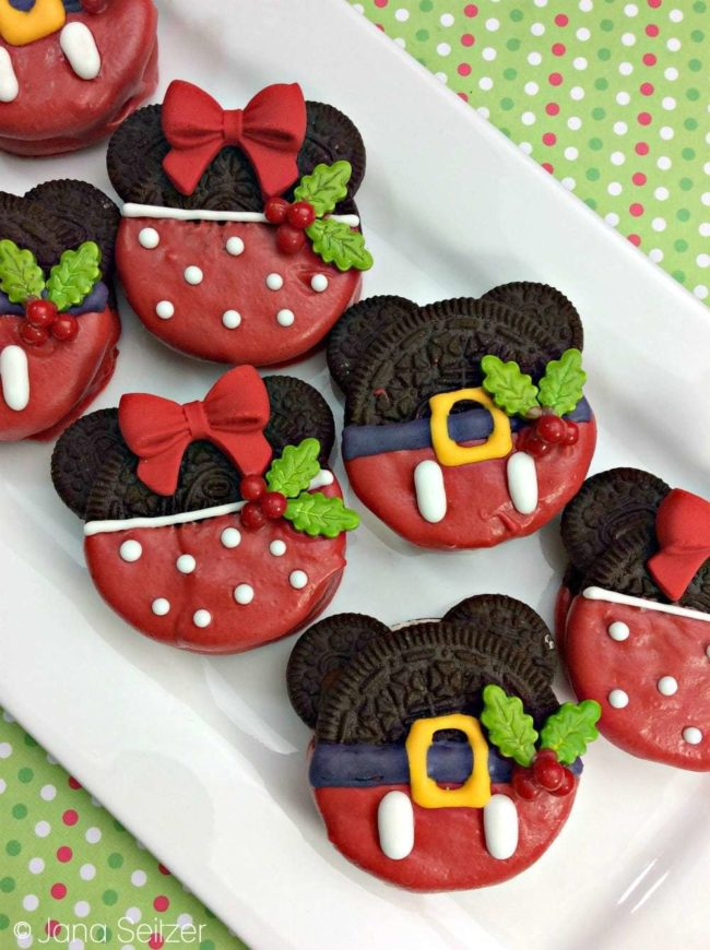 Mickey Oreo Christmas Cookies