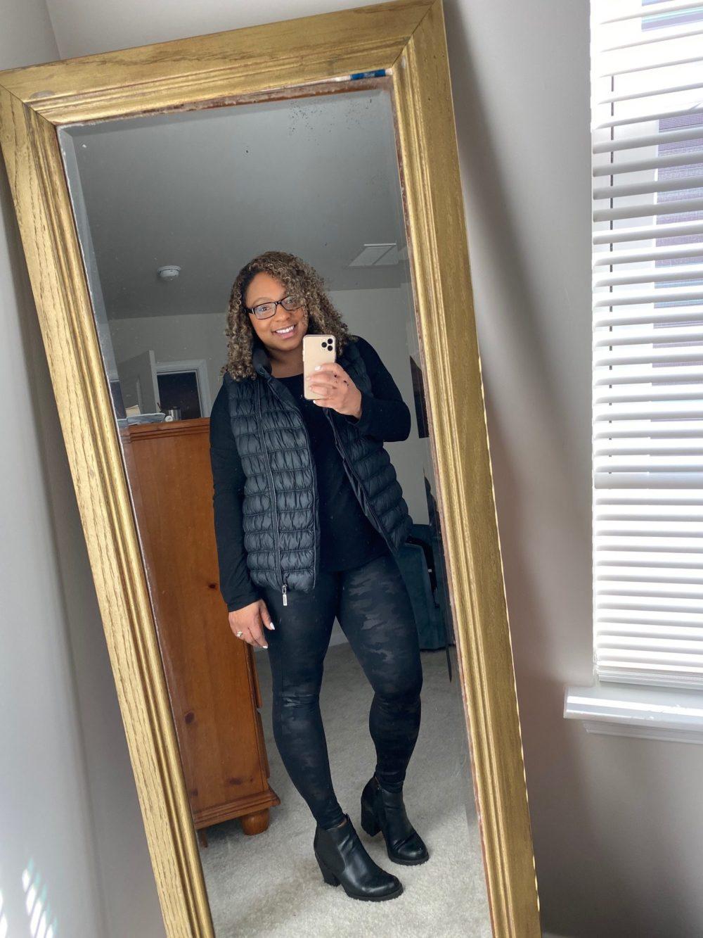 how to style leather leggings camo print leggings