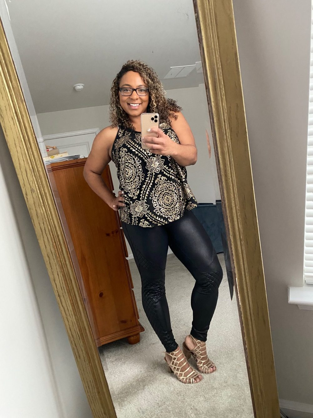 how to style leather leggings for a night out