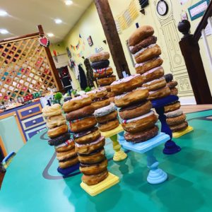dessert table ideas: donut stands for party