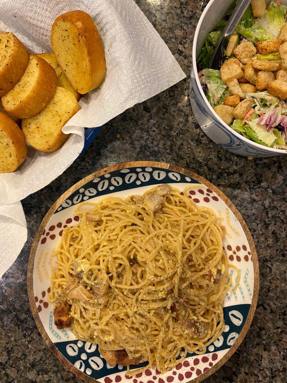 Simple Family Dinners: Chicken Carbonara